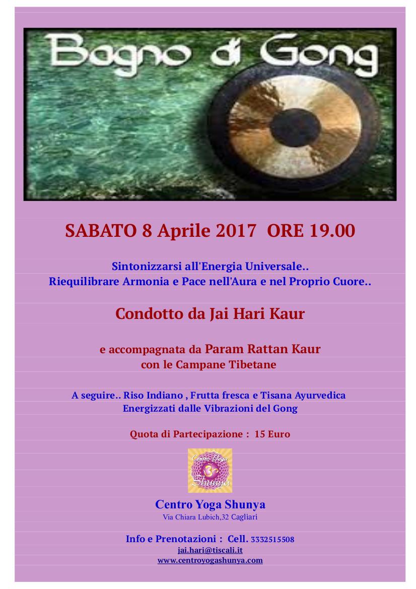 Locandina gong 8 Aprile