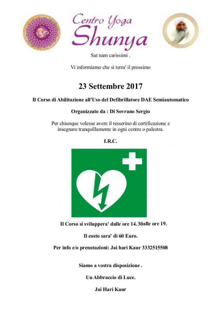 Locandina Defibrillatore