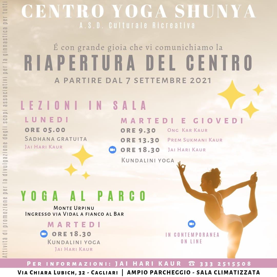 Attività del centro @ Centro Yoga Shunya